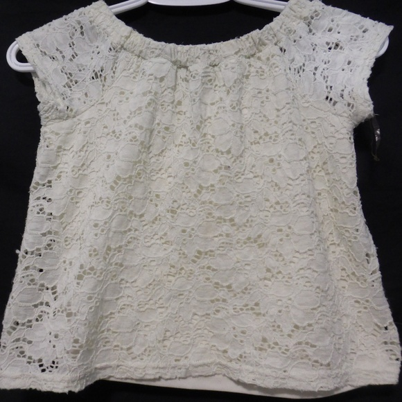 George, size small, 7-8 beige lace top